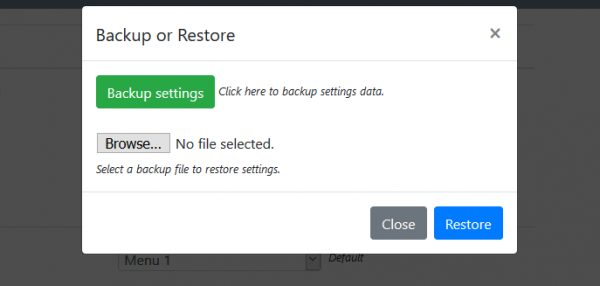 backup or reset